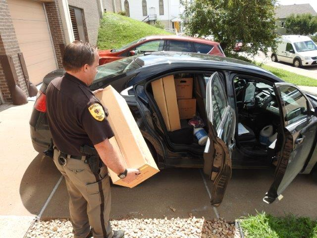 Sheriff Office Delivering Flood Kits